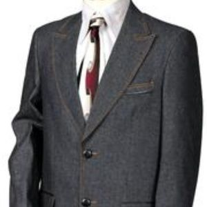 Other - 8376 Men's 3pc. Denim Suit